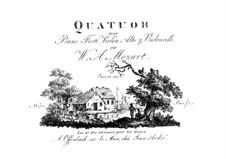 Quintett für Klarinette und Streicher in A-Dur, K.581: Bearbeitung für Klavierquartett – Klavierstimme by Wolfgang Amadeus Mozart