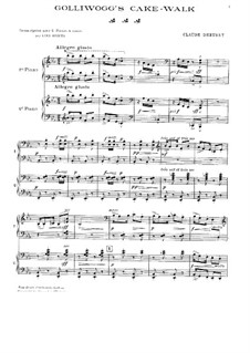 Nr.6 Negerpuppe: Für zwei Klaviere, vierhändig by Claude Debussy