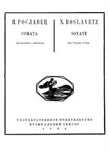 Sonate für Cello und Klavier Nr.1 in C-Dur: Sonate für Cello und Klavier Nr.1 in C-Dur by Nikolay Roslavets