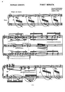 Sonate für Klavier Nr.1: Sonate für Klavier Nr.1 by Nikolay Roslavets