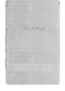 Konzertante Sinfonie für zwei Flöten und Orchester: Konzertante Sinfonie für zwei Flöten und Orchester by Federigo Fiorillo
