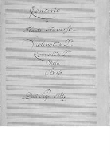 Konzert für Flöte und Orchester in D-Dur: Stimmen by Antonio Filtz
