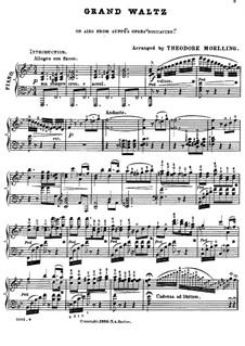 Boccaccio: Grosser Walzer, für Klavier by Franz von Suppé