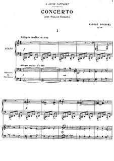 Klavierkonzert, Op.36: Version für zwei Klaviere, vierhändig by Albert Roussel