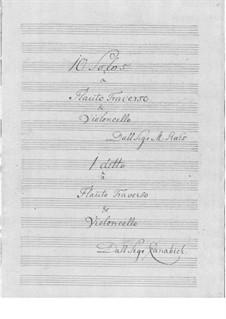 Zehn Sonaten für Flöte und Basso Continuo: Zehn Sonaten für Flöte und Basso Continuo by Martin Ræhs