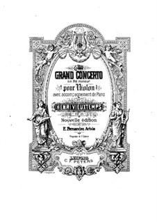 Violinkonzert Nr.4, Op.31: Partitur, Solostimme by Henri Vieuxtemps