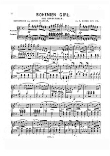 Klaviertranskription über 'Die Zigeunerin' von Balfe, Op.36: Klaviertranskription über 'Die Zigeunerin' von Balfe by Ferdinand Beyer