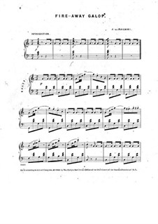 Fire-Away Galop for Piano: Fire-Away Galop for Piano by J. de Jasienski
