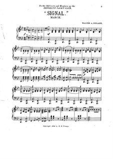 Signal. March for Piano: Signal. March for Piano by Walter A. Dolane