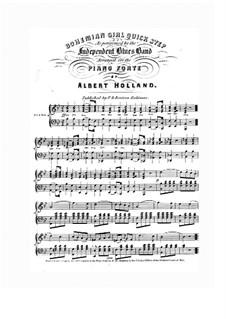 Die Zigeunerin: Quick Step, für Klavier by Michael William Balfe