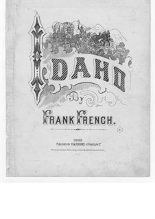 Idaho: For voice, choir and piano by Frank French