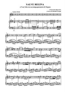 Salve regina: Für Stimme und Klavier by Vincenzo Bellini