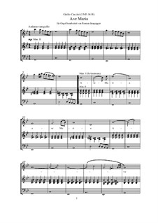 Ave Maria: Version für Orgel by Giulio Caccini