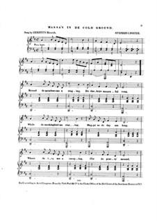 Massa's in de Cold Ground: Für Stimme und Klavier by Stephen Foster