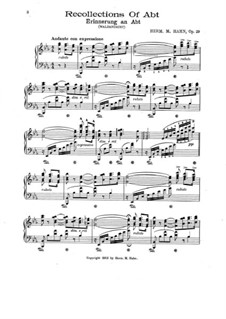 Erinnerung an Abt, Op.29: Erinnerung an Abt by Herm. M. Hahn