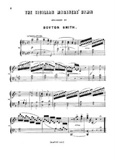 The Sicilian Mariners' Hymn: The Sicilian Mariners' Hymn by Boyton Smith