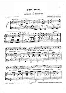 Ben Bolt: Für Stimme und Klavier (D Major) by Nelson Kneass