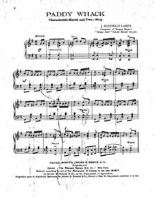 Paddy Whack: Für Klavier by Jens Bodewalt Lampe