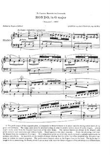 Zwei Rondos für Klavier, Op.51: Rondo Nr.2 (Herausgegeben von d'Albert) by Ludwig van Beethoven