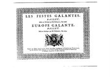 L'Europe galante: Premier Dessus part by André Campra