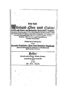 Erster Theil Allerhand Oden und Lieder: Erster Theil Allerhand Oden und Lieder by Gabriel Voigtländer