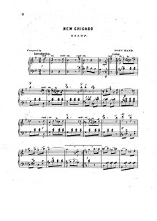New Chicago. Galop for Piano: New Chicago. Galop for Piano by John Hand