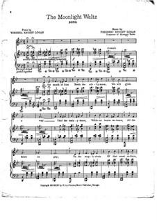 The Moonlight Waltz: Klavierauszug mit Singstimmen by Frederic Knight Logan