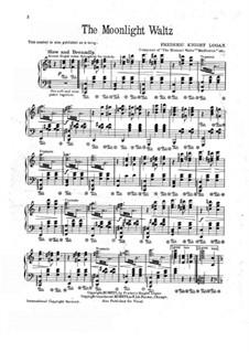 The Moonlight Waltz: Für Klavier by Frederic Knight Logan