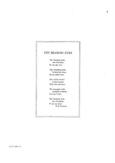 Sechs Liebeslieder, Op.40: No.3 Thy Beaming Eyes by Edward MacDowell