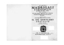 Book 9 (für zwei und drei Stimmen), SV 168–178: Book 9 (für zwei und drei Stimmen) by Claudio Monteverdi