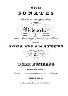 Drei Sonaten für Cello und Basso Continuo, Op.43: Cellostimme by Bernhard Romberg