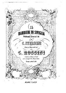 Vollständiger Oper: Für Stimmen und Klavier (Italienischer Text) by Gioacchino Rossini