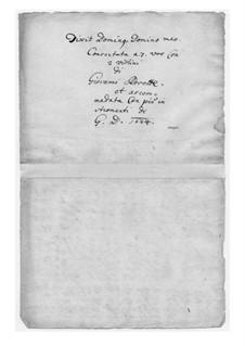 Dixit Dominus: Dixit Dominus by Giovanni Rovetta