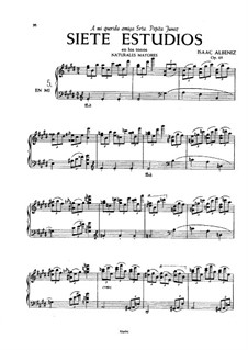 Sieben Etüden, Op.65: Nr.5-7 by Isaac Albéniz