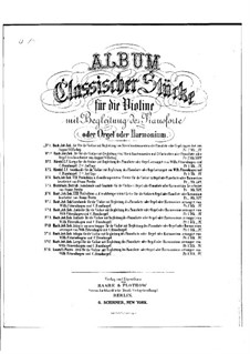 Arie: Version for violin, strings and piano by Johann Sebastian Bach