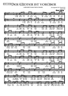 Der Winter ist vorüber: Für Frauenchor, Op.345 by folklore