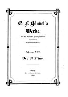 Vollständiger Oratorium: Partitur by Georg Friedrich Händel
