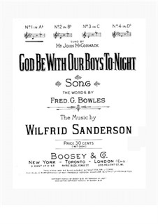 God Be with Our Boys to-night: In As-Dur by Wilfrid Sanderson