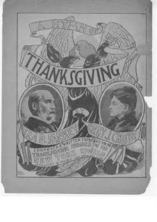 A Hymn of Thanksgiving: Singpartitur by Ira David Sankey