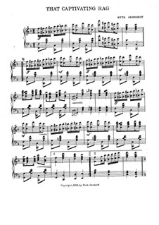 That Captivating Rag, for Piano: That Captivating Rag, for Piano by Ruth Orndorff