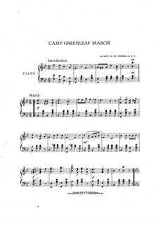 Camp Greenleaf March: Camp Greenleaf March by Malford W. Thewlis