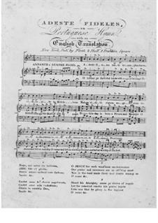 Herbei o ihr Gläubigen: Für Stimme und Klavier (B-Dur) by John Francis Wade