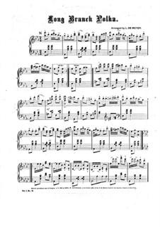 Long Branch Polka: Für Klavier by Unknown (works before 1850)