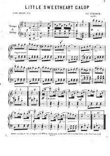 Little Sweetheart Galop, Op.695: Little Sweetheart Galop by John Conrad Viereck