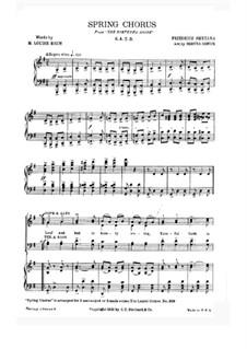 Chor der Landleute: Für Stimmen und Klavier by Bedřich Smetana