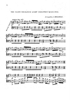 The Salem Mechanick Light Infantry's Quick Step: Für Klavier by Unknown (works before 1850)