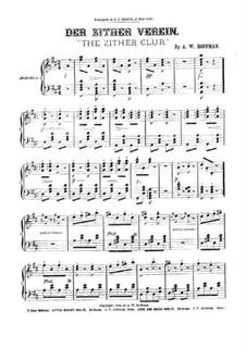Der zither verein: Der zither verein by A. W. Hoffmann