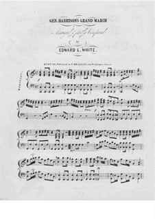 Harrison's Grand March: Für Klavier by Unknown (works before 1850)