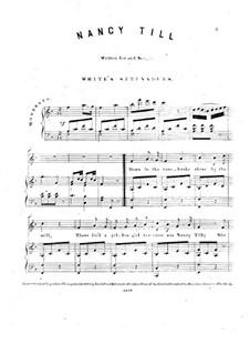 Nancy Till: Für Stimme und Klavier by folklore