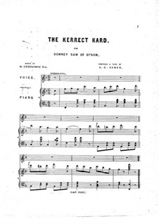 The Kerrect Kard: The Kerrect Kard by Alfred Glenville Vance
